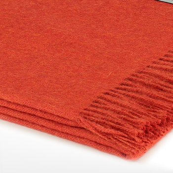 Emma Baby Alpaca Wool Throw - 130x200cm - Deep Orange