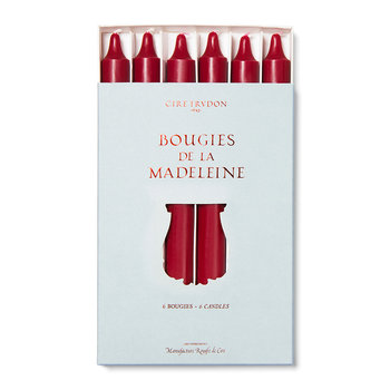 Madeleines Taper Candle - Set of 6 - Burgundy