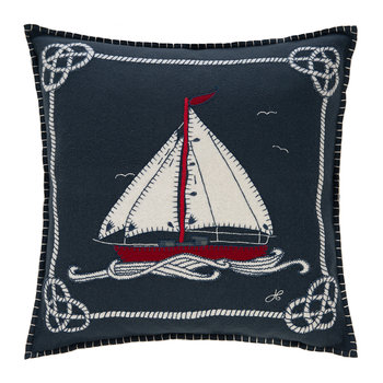 Seaside Boat and Rope Pillow - 46x46cm