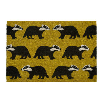 Kissing Badgers Doormat