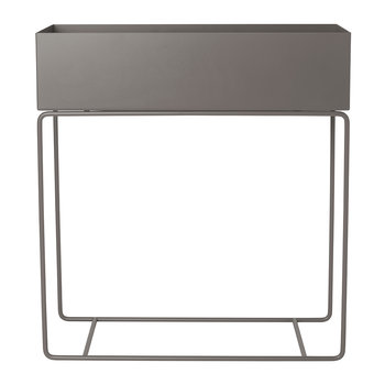Raised Metal Plant Box - Warm Gray