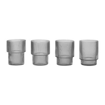 Ripple Glass - Set of 4 - Smoked Gray