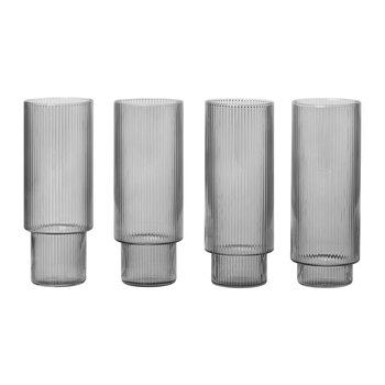Ripple Long Drink Glass - Set of 4