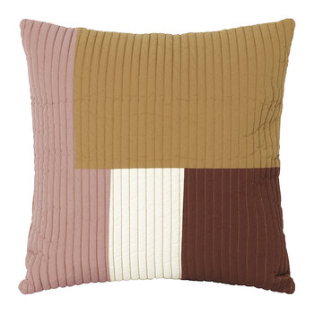 Shay Quilt Cushion - Mustard - 50x50cm