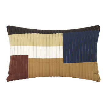 Shay Quilt Cushion - Mustard - 60x40cm