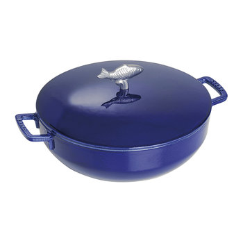 Dark Blue Bouillabaisse Pot - 28cm