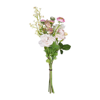 Artificial Ranunculus Bouguet Mix - Pink/Cream