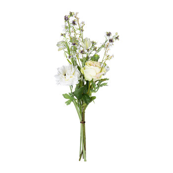 Artificial Ranunculus Bouguet Mix - Cream/Green
