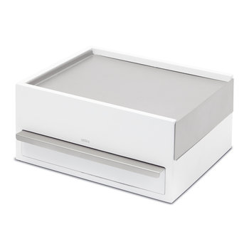 Stowit Jewellery Box - White/Nickel