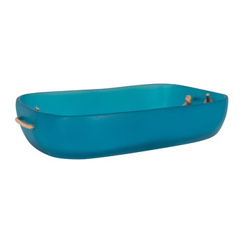 Water Bath Paper Towel Tray - Ocean Blue