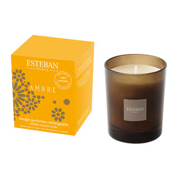 Refillable Scented Candle - 170g - Ambre