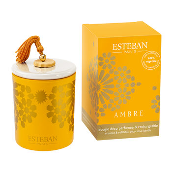 Refillable Decorative Scented Candle - 170g - Ambre