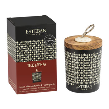 Refillable Decorative Scented Candle - 170g - Teck &Tonka