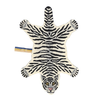 Snowy Tiger Rug - Off White