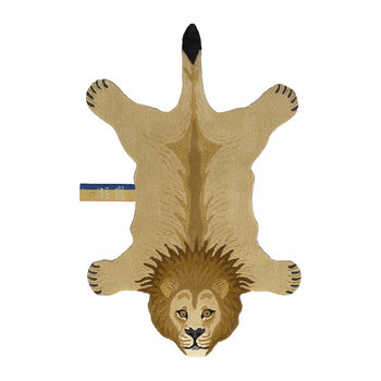 Tapis lion lunatique - Brun