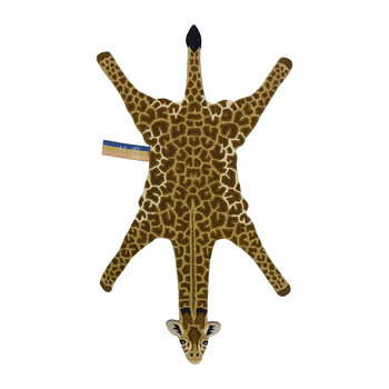 Gimpy Giraffe Rug - Orange