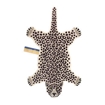 Snowy Leopard Rug - Off White