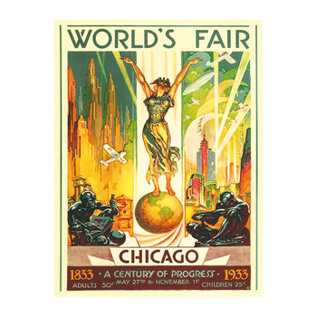 World Fair Chicago 1933 Wall Poster