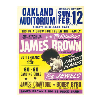 James Brown Oakland Auditorium Print