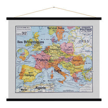 Europe Politique Vinatge Map Print