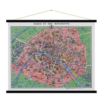 Paris et ses Monuments Vintage Map Print