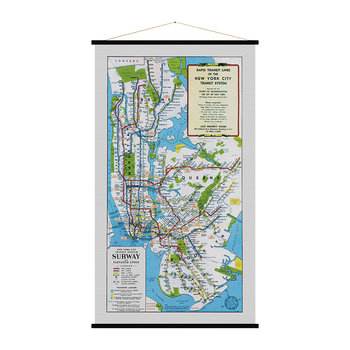 New York City Vintage Map Print