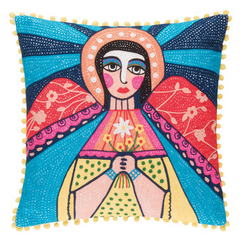 Mother Mary Embroidered Pillow Cover - 45x45cm