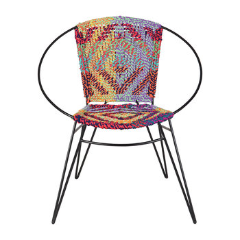 Hand Woven Iron and Chindi Chair