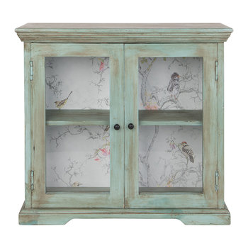 Glazed Wall Cabinet - Green