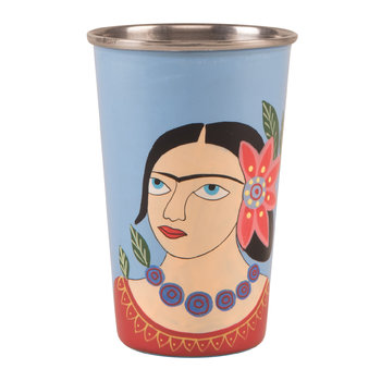 Frida Khalo Stainless Steel Tumbler - Blue