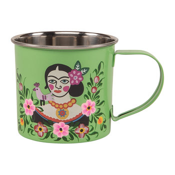 Frida Kahlo Stainless Steel Mug - Green
