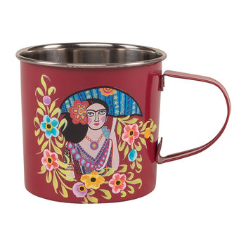 Frida Kahlo Stainless Steel Mug - Red