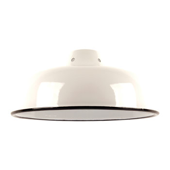 Enameled Lampshade - White
