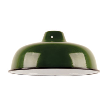 Enameled Lampshade - Green
