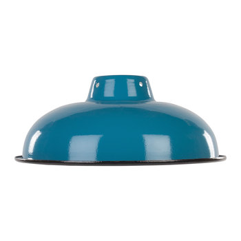 Enameled Lampshade - Teal