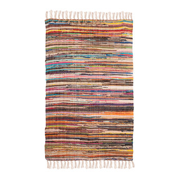 Multi Coloured Cotton Rag Rug