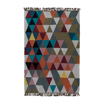 Triangles Woven Wool Rug - 120x180cm