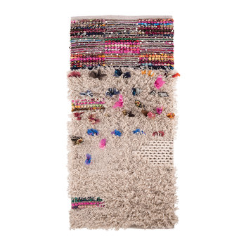 Shaggy Rag Rug with Sequins and Tufts - 70x140cm