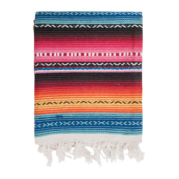 Handwoven Mexicano Throw - 124x150cm - Multi Pink