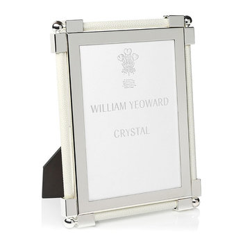 Photo Frame Leather - Shagreen White