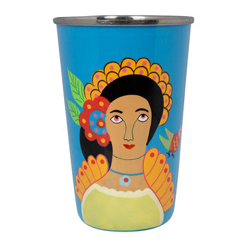 Frida Kahlo Stainless Steel Tumbler - Lilac