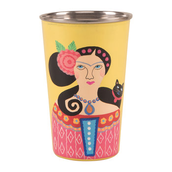 Frida Khalo Stainless Steel Tumbler - Yellow