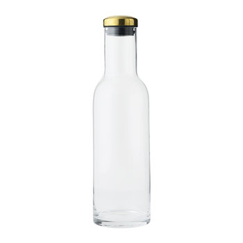 Bottle Carafe - 1L - Clear/Brass