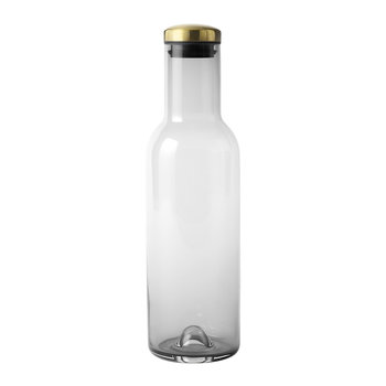 Bottle Carafe - 1L - Smoke/Brass