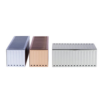 Metal Container Storage Box - Set of 3