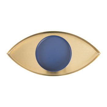 The Eye Organiser Tray - Gold/Blue