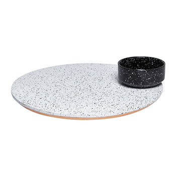 Eclipse Serving Platter - Black/White