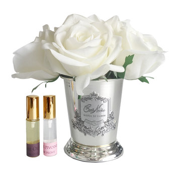 Seven Rose Bouquet - Ivory White