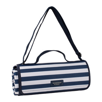 Coast Picnic Blanket - Navy Stripe