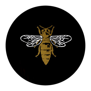 Bee Coaster - Set of 4 - Black/Gold